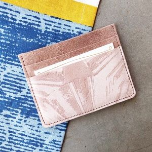ANTHROPOLOGIE ✨NWT✨ Penny Suede Leather Cardholder